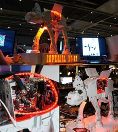 WANT! Custom built watercooled AT-AT PC case....pic from IGN