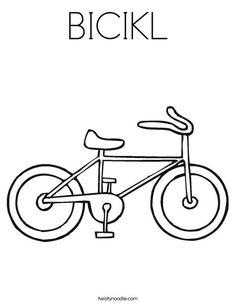bicikl coloring page twisty noodle