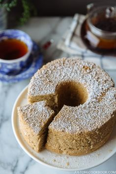 Earl Grey Chiffon Cake アールグレイシフォンケーキ | More Recipes at JustOneCookbook.com
