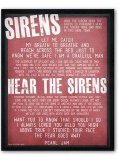 Sirens / Pearl Jam