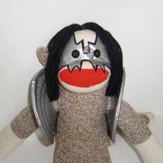 Sock Monkey Doll Ace Frehley KISS by MarysMonkeys on Etsy. @marysmonkeys.com