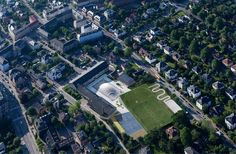 Sports & Arts Expansion at Gammel Hellerup Gymnasium,© Iwan Baan