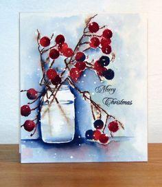 40-346 Berry merry Christmas, 51-142 Mason jar (die), 30-258 Prancer de Penny Black