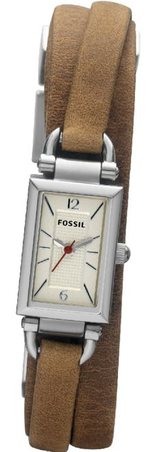 #Fossil Delaney Three Hand Leather #Watch - Tan Jr1324