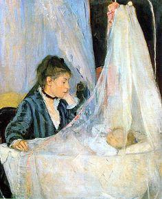 Berte Morisot, The Cradle, 1872, oil on canvas, 56 x 46 cm (Musée d'Orsay, Paris)