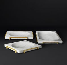 Alcala Marble and Brass Collection Cofee Shop, Marble Furniture, Furniture Design, Marble Tray, White Marble, Photos Booth, Linen Shop, Jewelry Tray, Marble Stones