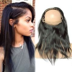 Pre Plucked 360 Lace Frontal Closure Brazilian Virgin Hair Silky Straight Lace Frontal Closure With Baby Hair Natural Hairline