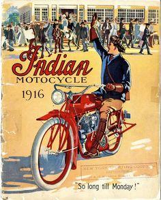 Indian bikes, 1916.
