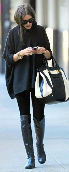 cape and huge bag