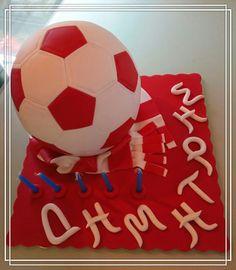 Football team Olympiacos maniac cake!!!!