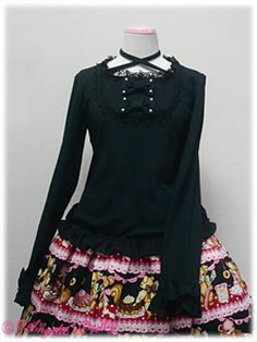 Angelic Pretty / Cutsew & Knit / Dressy Round Switching Cutsew