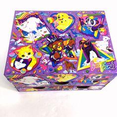 Vintage Lisa Frank Stationery Box Storage Chest Markie Panda Painter Bear Purple #LisaFrank