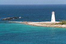 Hog Island Lighthouse ~ Paradise Island, Bahamas...constructed in 1817 at the western tip of the island.