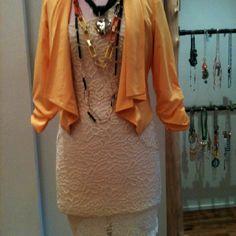 Lace Dress | Drape Blazer | Layered Necklaces