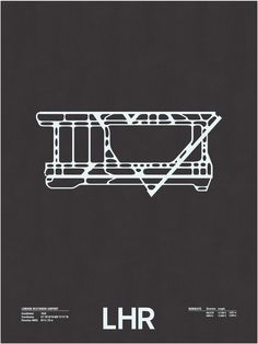 London Heathrow Airport Runway Screenprint Poster from Nomo Design, $26