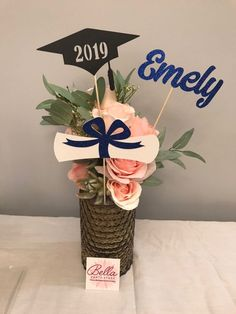 Excited to share the latest addition to my shop: Graduation party decorations Graduation Centerpiece Sticks, Grad ,Cap ,Diploma , cu. Diy Graduation Gifts, College Graduation Parties, Grad Parties, 1st Birthday Parties, Graduation Ideas, Graduation Bouquet, Graduation Flowers, College Gifts, Graduation Quotes