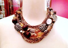 Premier Designs Zoology necklace layered with Sedona necklace, doubled