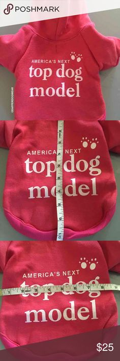 DOG CLOTHES sweater hoodie medium DOG CLOTHES sweater hoodie  DESIGNED for SMALL BREED DOGS. Please do not assume sizes. Very trendy FADED VINTAGE RED pullover hooded sweatshirt designed for SMALL BREED DOGS.  Thick material is very good quality with a gentle soft feel. A hood helps protect the ears and face of the cold harsh winds. Perfect for those early morning walks and evening outings. Arms are spacious for mobility and long enough to cover his/her arms without dragging with snug seams…