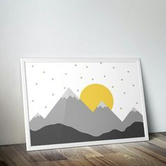 New nursery set available. Instant download and 300dpi. Gray and yellow design