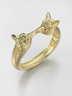 Tory Burch Kissing Foxes Bangle Bracelet, $145.