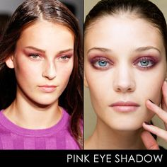 Pink shadow can be flattering, promise.