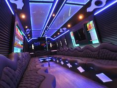 limo party bus interior party bus pinterest limo buses and party bus. Black Bedroom Furniture Sets. Home Design Ideas