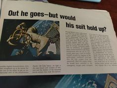 "headline from 1965 Life Magazine special issue about Ed White's space walk: ""out he goes--but would his suit hold up? White Space, Life Magazine, Hold On, Moon, Suit, Fall, Autumn, Naruto Sad, The Moon"
