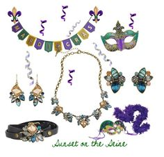 Mardi gras with Sunset on the Seine by la-guajira Shop all jewelry in my boutique xiomarad.chloeandisabel.com