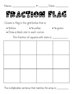 I created this fraction activity to use as morning work for my third graders. We have been learning about fractions of a group and fractions of a w...