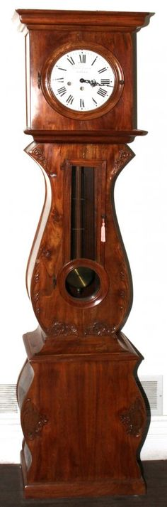 CLAUDE MAYET A MORBIER WALNUT TALL CASE CLOCK : Lot 121022