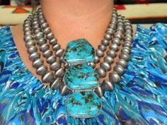 Andy Cadman-Extraordinary Turquoise Silver Necklace | eBay