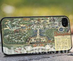 Disneyland map vintage    iPhone 4/4s/5/5s/5c by rangercustommumet, $15.00