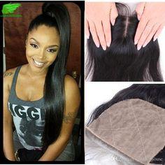 Silk Base Closure Straight Silk Top 4x4 Closure Human Hair Malaysian Straight…