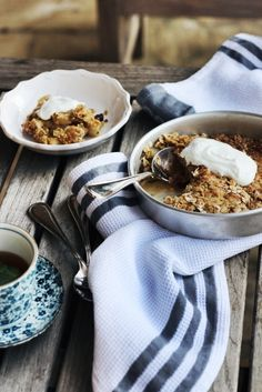 Pear, Mint and Ginger Crumble