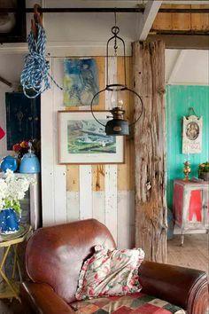 Gorgeous beach house interior....
