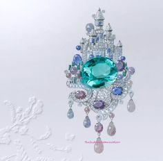 Château Enchanté Clip- Peau d'Âne- Fine Jewelry Collection by Van Cleef & Arpels