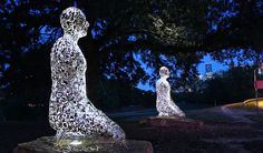Created by internationally-renowned Spanish sculptor Jaume Plensa, �Tolerance� is a grouping of sculptures sited in Buffalo Bayou Park at the intersection of Allen Parkway and Montrose Boulevard.