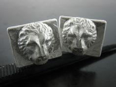 LION CUFFLINKS. Sterling Silver - Jelena Behrend Studio. On sale. #jelenabehrendstudio #jbsholidaygifts