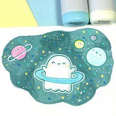 Planet Spooky ✨ • • #kawaii #spookymccute #space #doodle