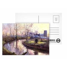 Spring Gardening by Timothy Easton - Postcard (Pack of 8) - 6x4 inch - Art247 Highest Quality - Standard Size - Pack Of 8 $8.00