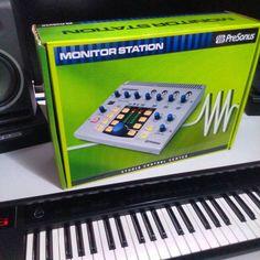 Got myself a little present. Finally a monitor controller for my home studio.  #homestudio #gearporn #audiogear #mixing #presonus #focals #yamaha #audio #studioflow #studiolife #beatmaker #producersgear #producing