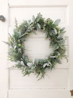 Excited to share the latest addition to my shop: Winter Eucalyptus Wreath, Holiday Wreath, Lambs Ear & Eucalyptus Wreath, Christmas Wreath, Farm. Diy Spring Wreath, Diy Wreath, Door Wreaths, Wreath Making, Aussie Christmas, Christmas Diy, Corona Floral, Eucalyptus Wreath, Greenery Wreath