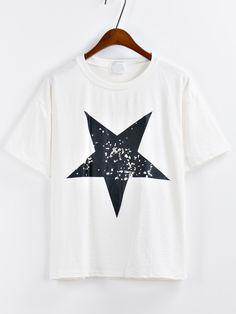 Camiseta+estrella+estampada+-blanco+11.03