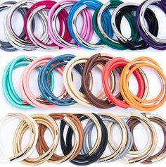 Qudo leather wrap bracelets