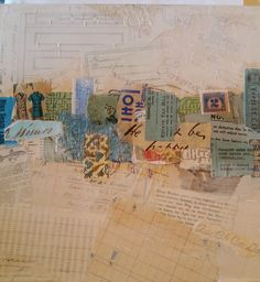 .....altered book studio.....: Collage Canvas Play Date