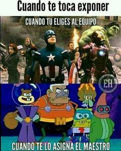XDD siempre me pasa (Pinche vida) :vv Anime Meme, Memes Marvel, Avengers Memes, Funny Images, Funny Pictures, Funny Spanish Memes, Best Memes, Troll, Pikachu