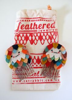 Feathered Haircombs