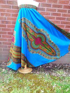 Dashiki+Maxi+Skirt/Dress+by+ZuwaReBespoke+on+Etsy,+£45.00