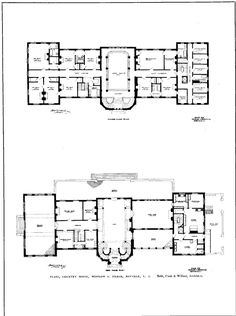 ' Dunstable ', the Winslow Shelby Pierce II estate designed by Babb, Cook & Willard c. 1903 in Bayville . Pierce, an attorney, began his . Apartment Floor Plans, House Floor Plans, Plaza Design, Architectural Floor Plans, Cottage Plan, Plantation Homes, Mansions Homes, Architecture Plan, Classic House