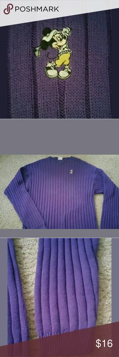Vintage xl disney world mickey mouse sweater mens VINTAGE MICKEY MOUSE GOLF MEN'S DISNEY WORLD CREW NECK PURPLE SWEATER. NO HOLES OR MARKINGS. SOME WEAR FROM WASH. ARMPIT TO ARMPIT 23'' AND 32'' IN LENGTH Disney Sweaters Crewneck